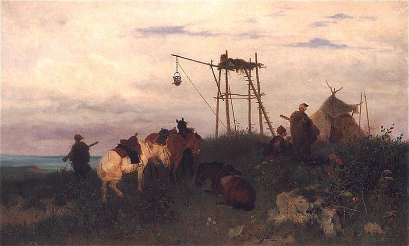 Юзеф Брандт (1878). «Сторожа над Дніпром».