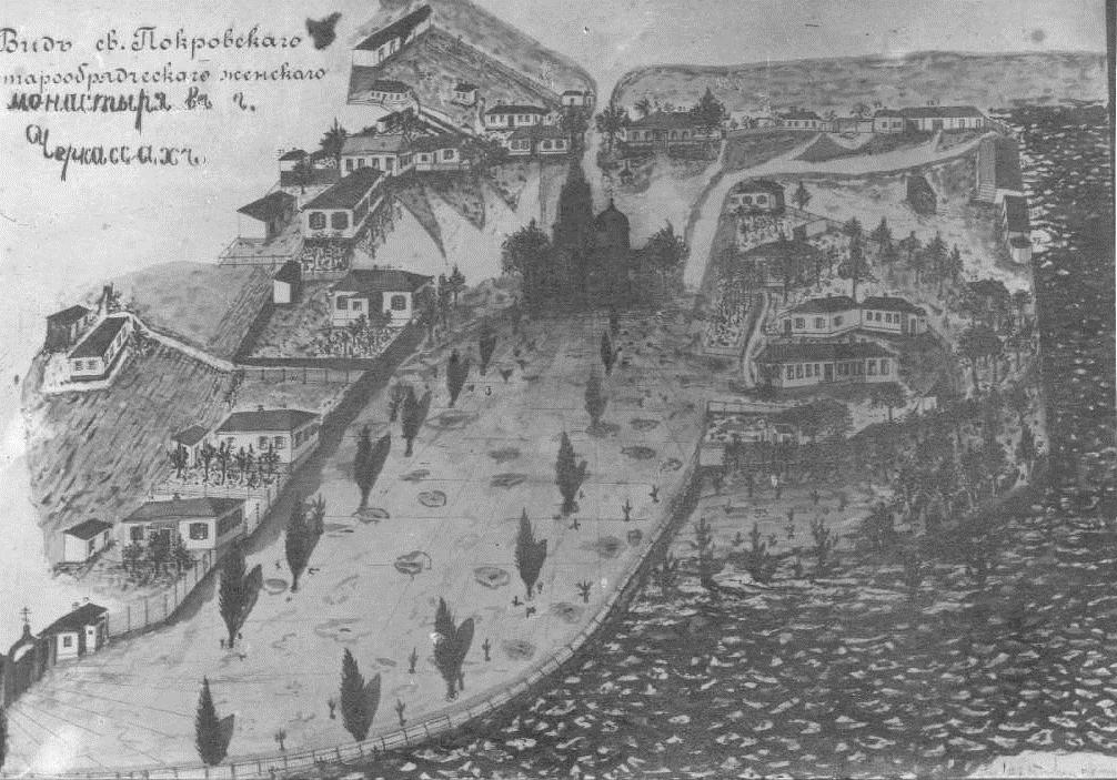 Черкаси. Свято-Покровський жіночий монастир. Схема ХІХ століття.