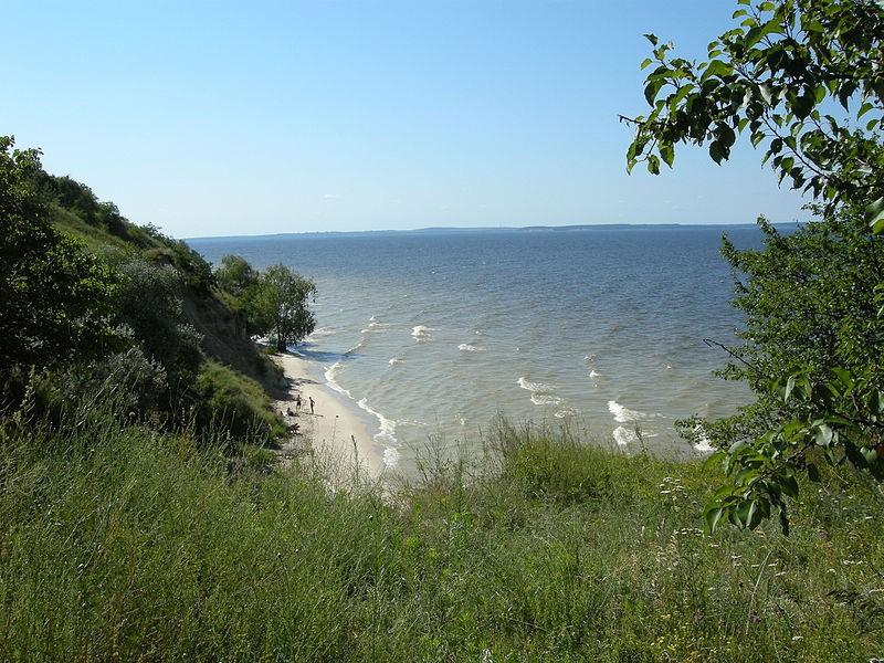 Вид на Кременчуцьке водосховище