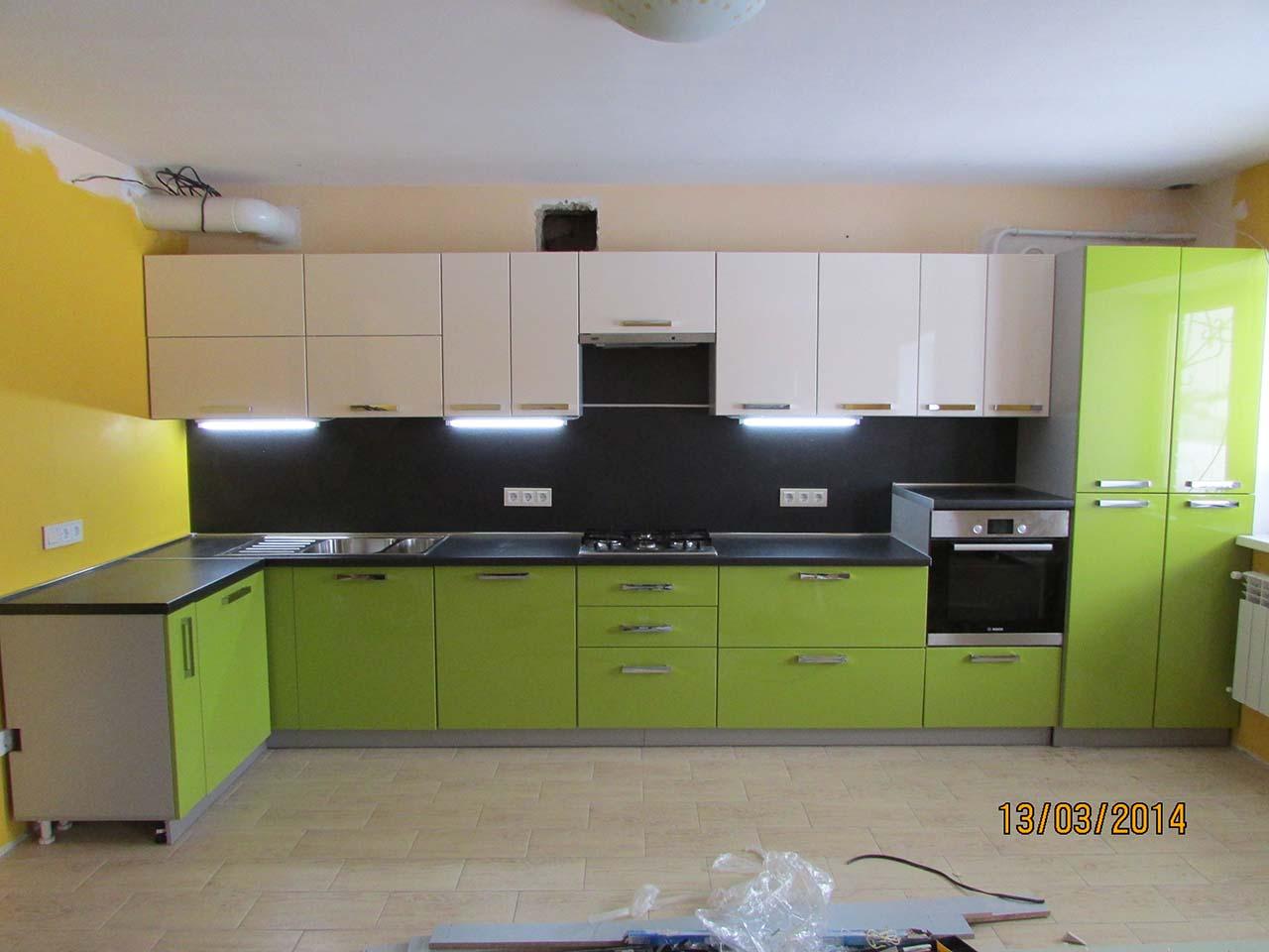 стк кухня зеленая
