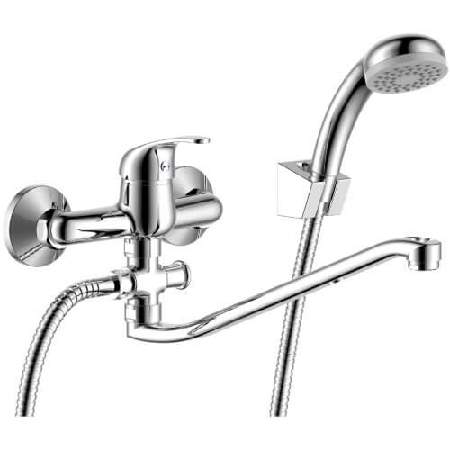 СТК Уфа РБ Смеситель одноручный (35 мм) для ванны с плоским изливом 300 мм