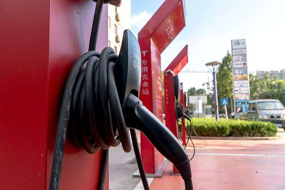 Станція заряджання Тесла в м. Шаньдун
