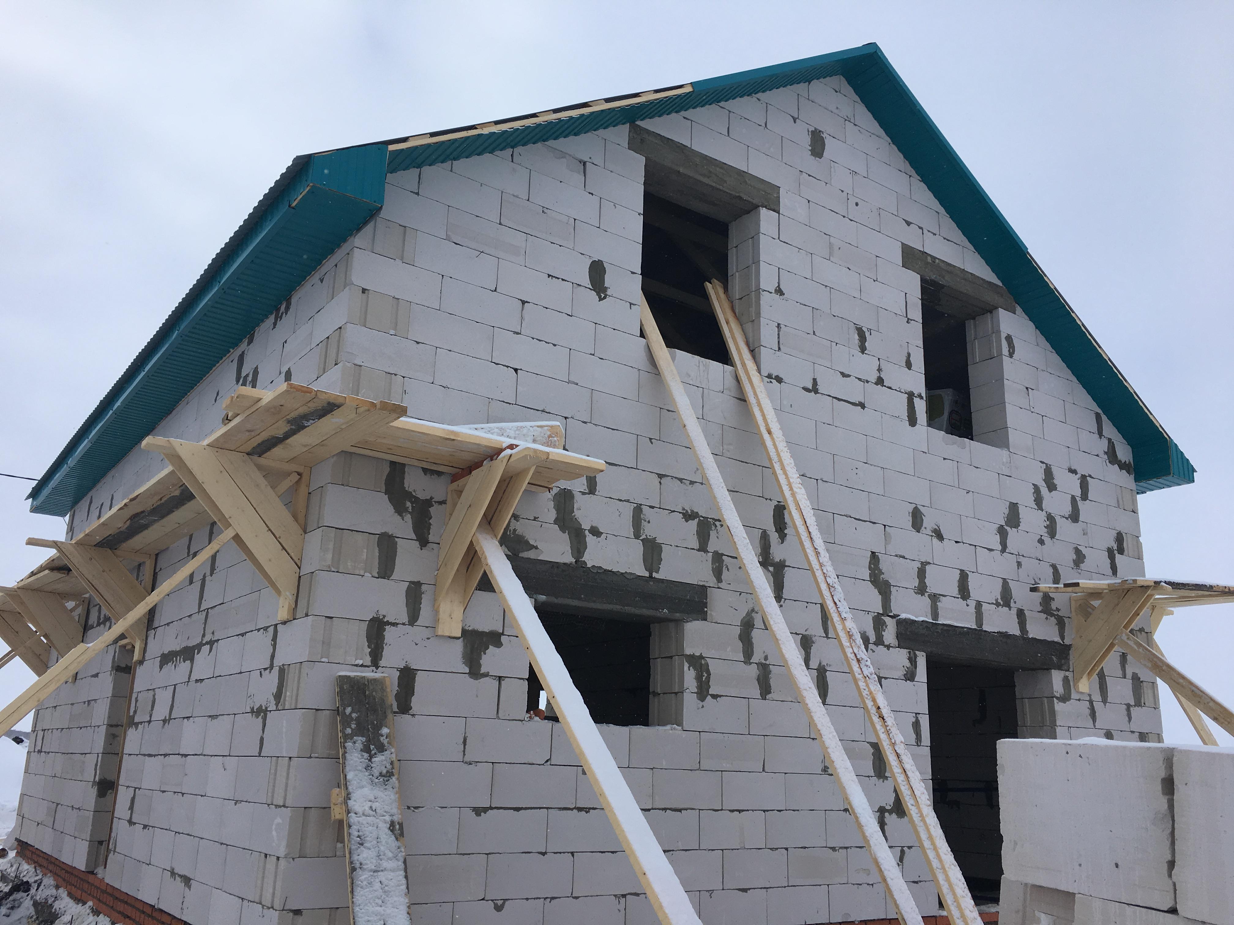 СТК Уфа РБ  строительство дома под крышу
