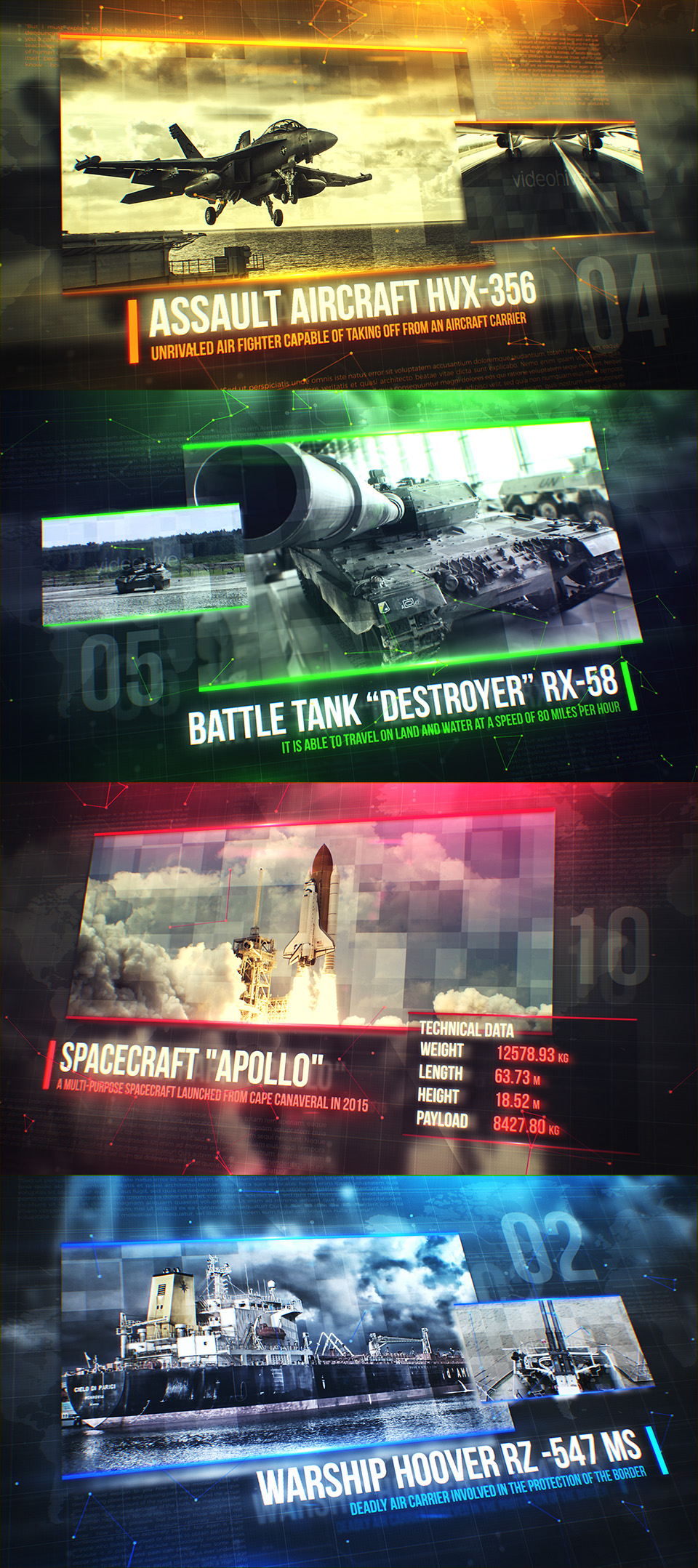 Warfare. Military Slideshow 20949834 - Free After Effects Template