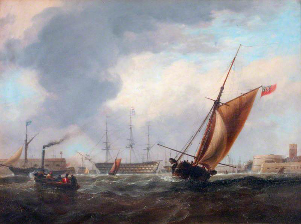 4Portsmouth Harbour with the Victory.jpg
