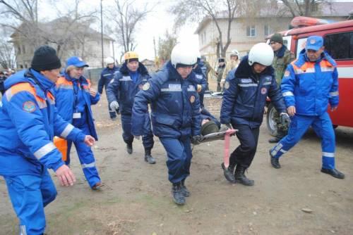 Атырауские спасатели на учениях