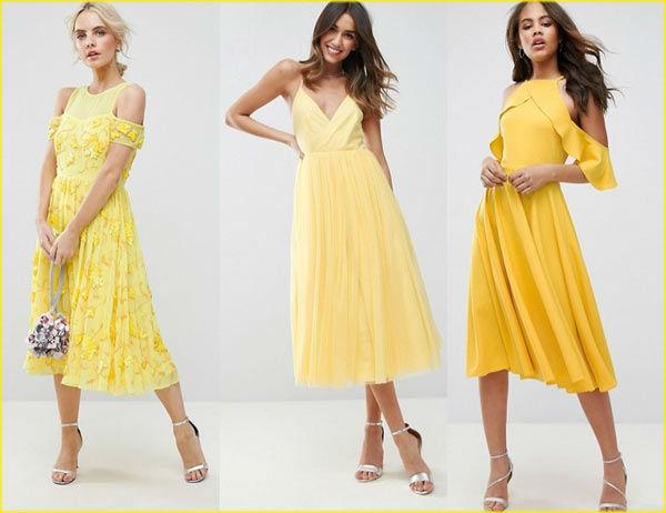 выбор желтого платья