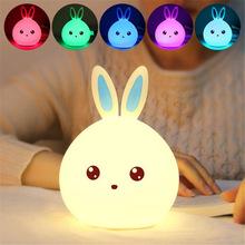 Кролик светодиодный ночник для детей