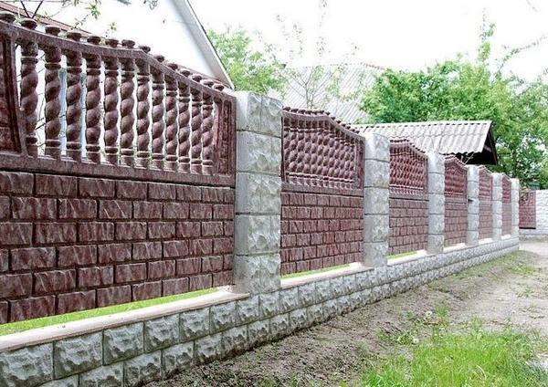 бетонное ограждения