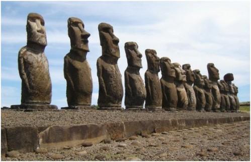Памятники Моаи на острове Пасхи