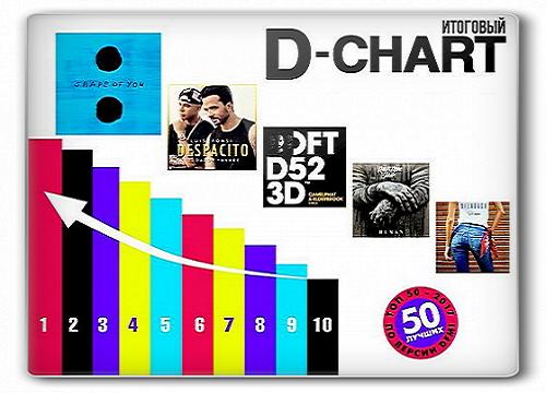 Сборник - Итоговый D-CHART Топ 50 от Радио DFM за 2017 (2018)
