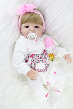55 см reborn baby doll реалистичная для игры в дочки-матери