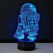 Новинка 3D Night Light LED Звездные войны