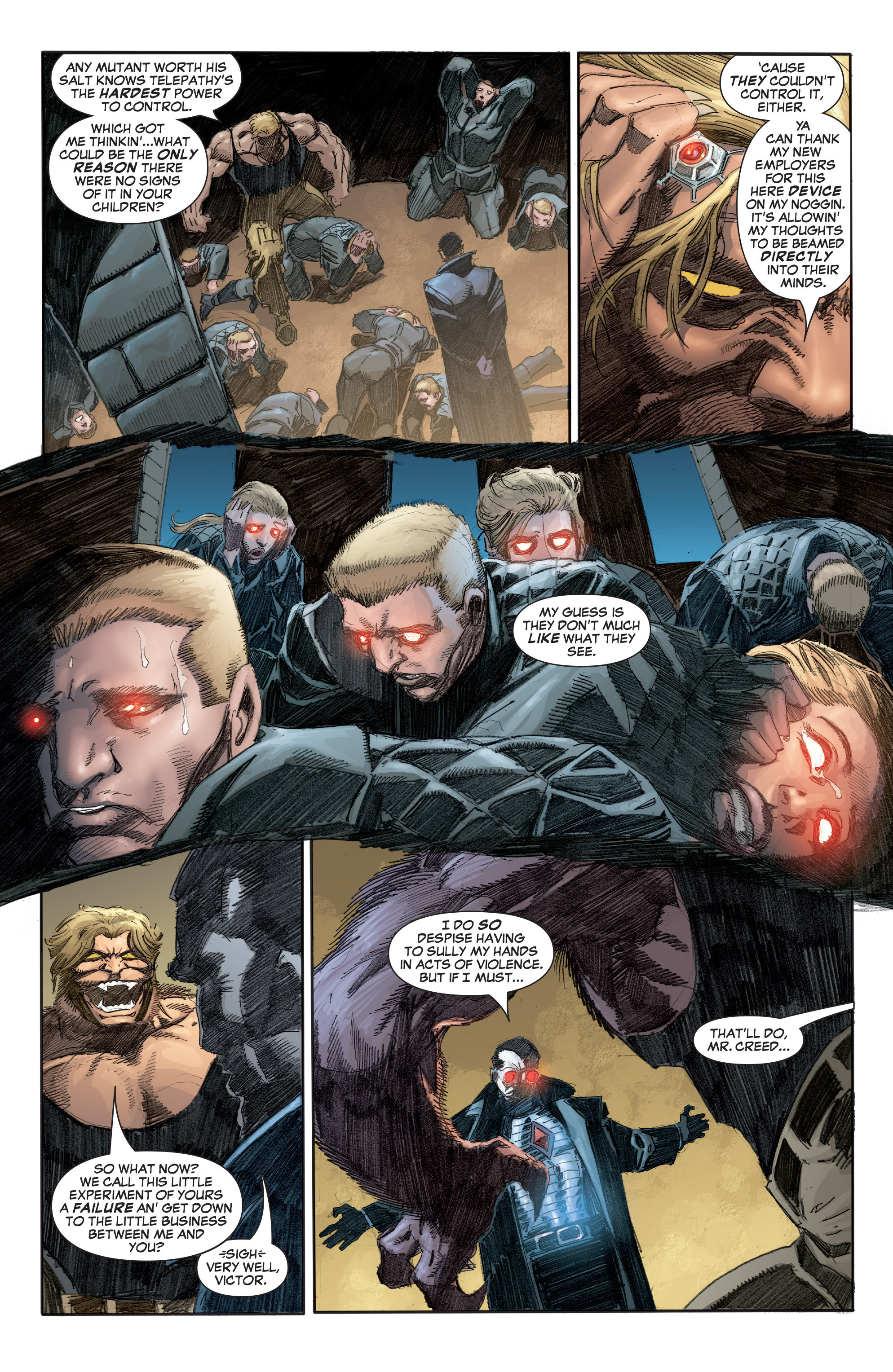 Telepathy Mr. Sinister Scalphunter Sabretooth  Tomes in Weapon X #28