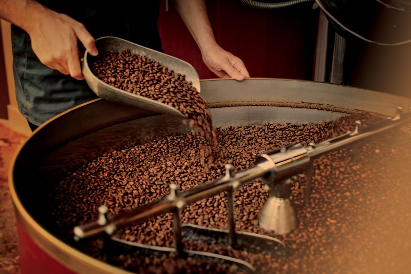 Coffee roasting in Bravos company.JPG