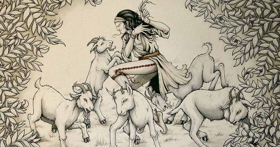 Shepherd Kaldi and his goats.jpg