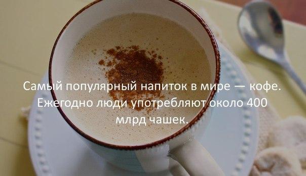 Самый популярный напиток в мире-кофе