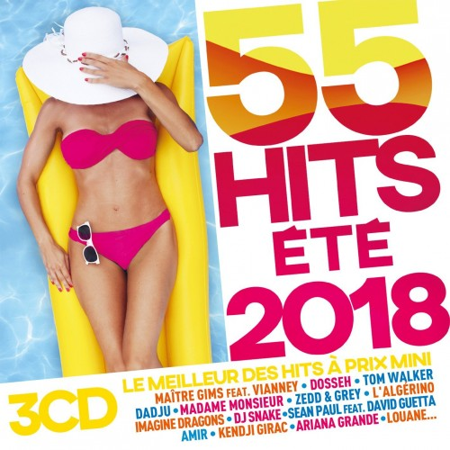 VA - 55 Hits Ete 2018 [3CD] (2018)