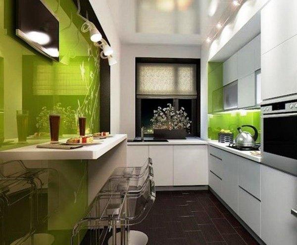 узкие маленькие кухни