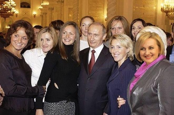 украинская псевдо-патриотка Наталья Натовкина с Путиным