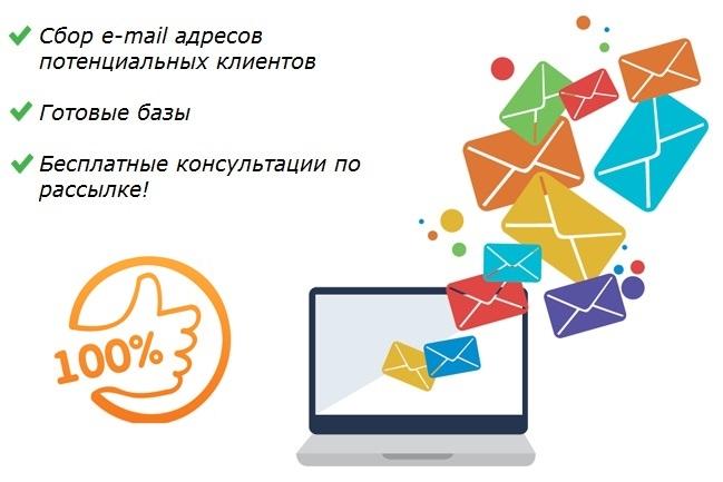 Сбор базы e-mail адресов потенциальных клиентов. Купить базу email адресов компаний, предприятий, магазинов. Собрать базу электронных адресов