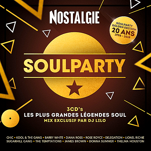VA - Nostalgie Soulparty: Les Plus Grandes Legendes Soul [3CD] (2018)