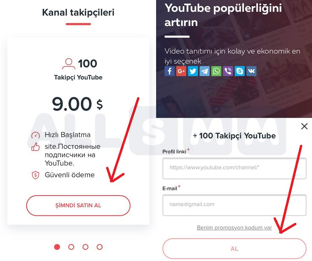 YouTube geliştirme promosyonu