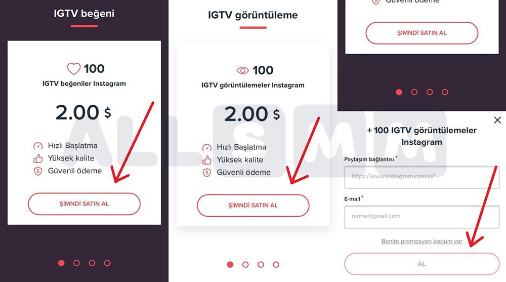 IGTV beğeni ve görüntüleme