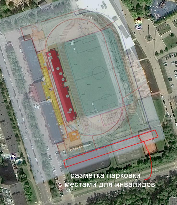 Спутник и генплан реконструкции стадиона