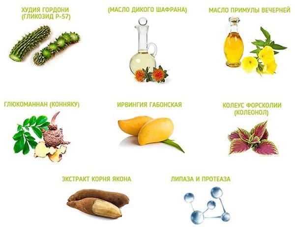 Склад таблеток редуслім, рослинні компоненти
