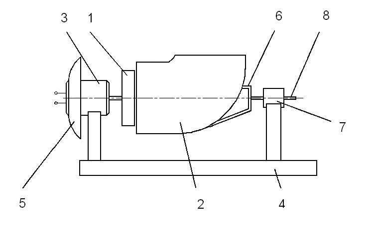 Рис. 7. Схема устройства макетного образца безлопаточной турбины