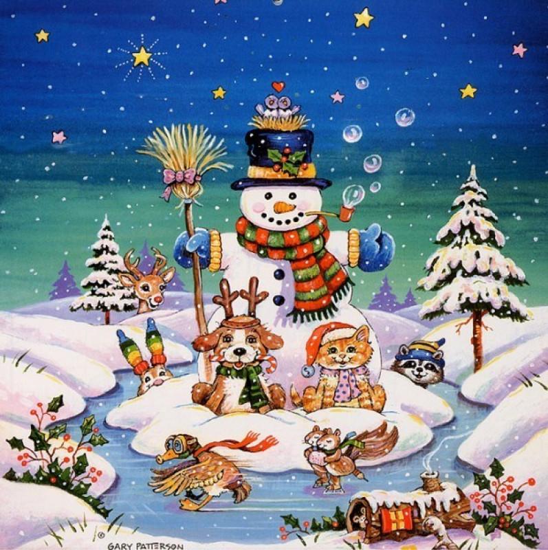 Надписью, рисованные картинки новогодние
