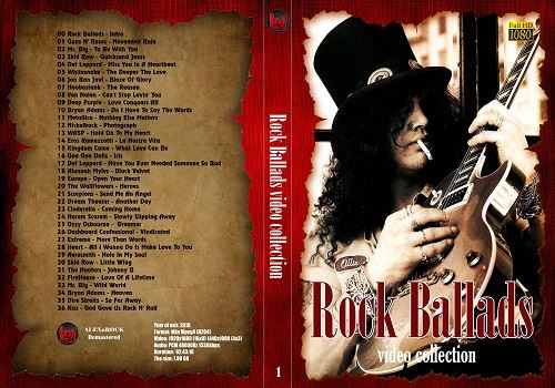 Сборник клипов - Rock Ballads Video Collection от ALEXnROCK часть 1 (2019/WEBRip)