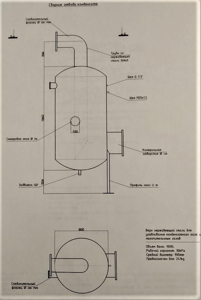 сборник отвода конденсата и его данные