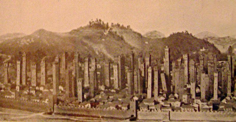 Панорама Болоньї ХІІ століття.