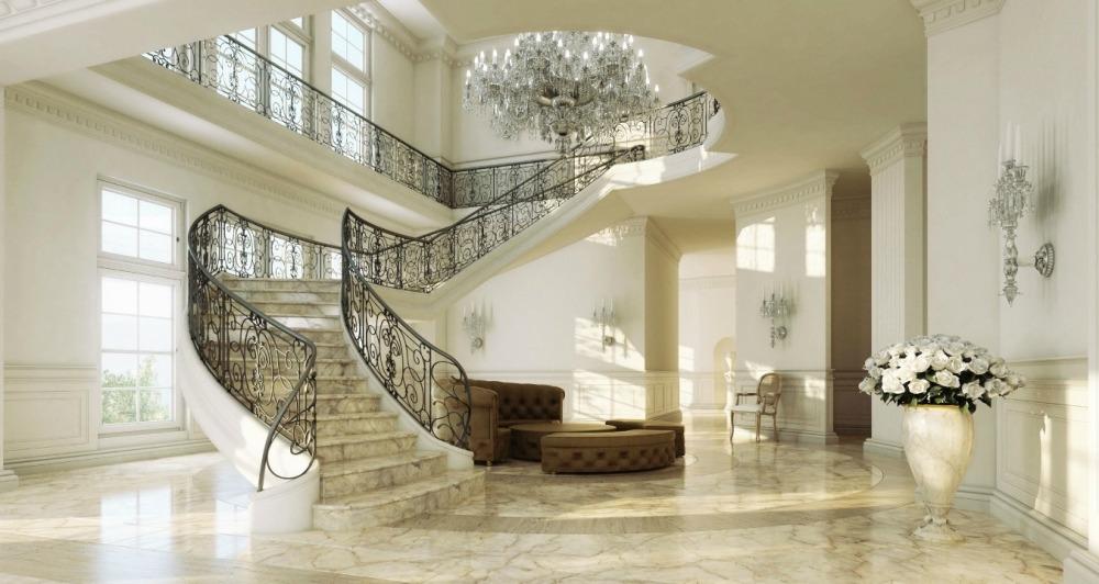Мраморные ступени в доме