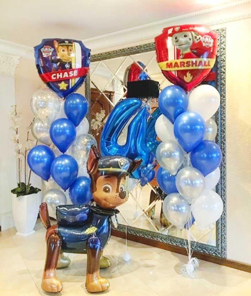 Композиция с воздушными шарами щенячий патруль