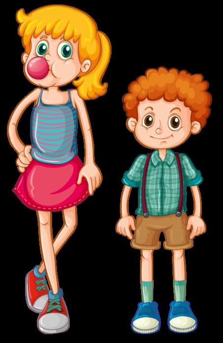 Картинка брата и сестры для детей, пожеланием доброй