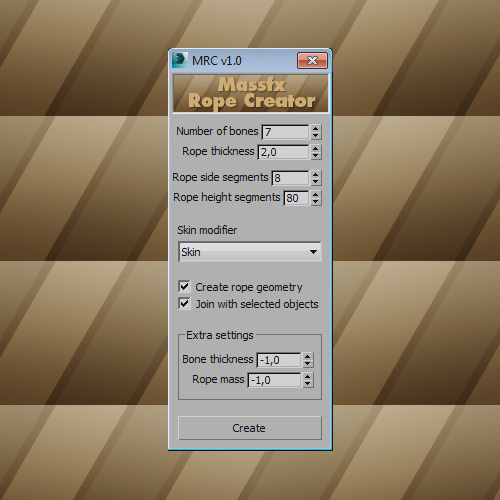 Screenshot of the plugin interface