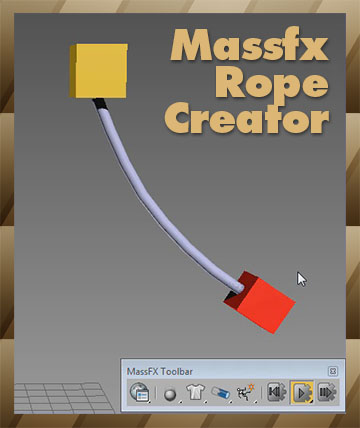 Massfx Rope Creator 3ds max plugin