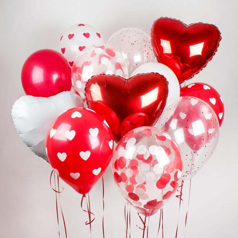 шары в виде сердец