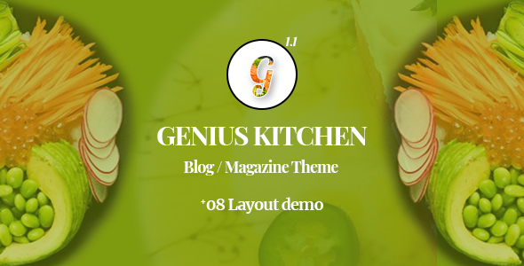 Genius Kitchen - News Magazine and Blog Food WordPress Theme