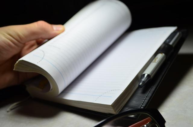 кожаный ежедневник и ручка