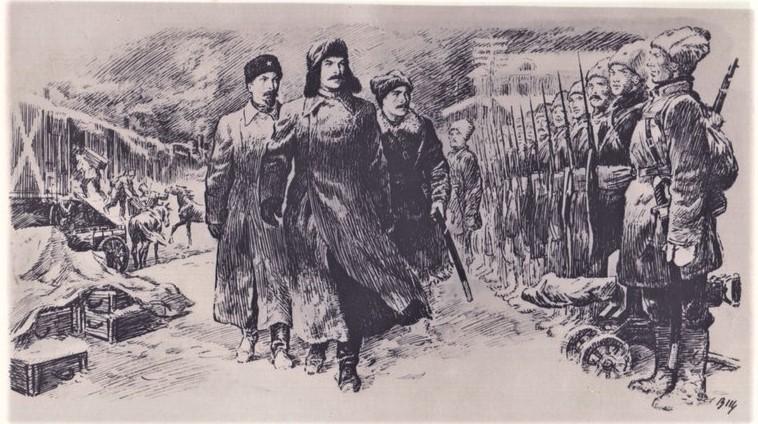 смотр вятского батальона чк тт сталиным и дзержинским в щеглов.jpg