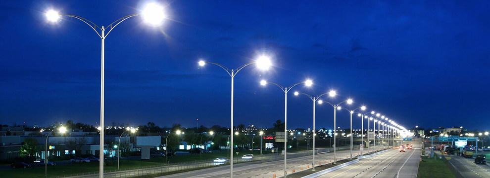 Расстояние между уличными фонарями