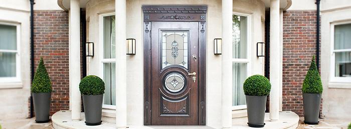 Красивые входные металлические двери