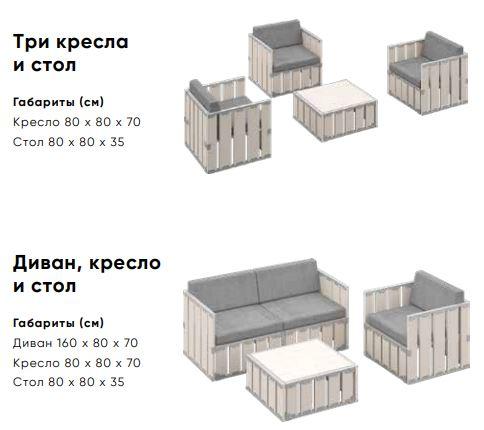Комплект уличной мебели bxl BOX 3 – успейте купить со скидкой!