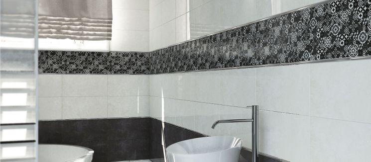 Контрастная плитка в ванной комнате