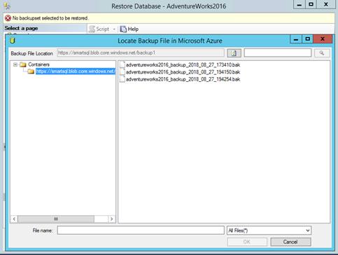 Использование Azure для бэкапа и восстановления SQL Server фото №14