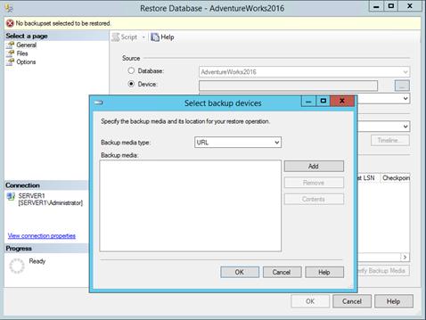 Использование Azure для бэкапа и восстановления SQL Server фото №12